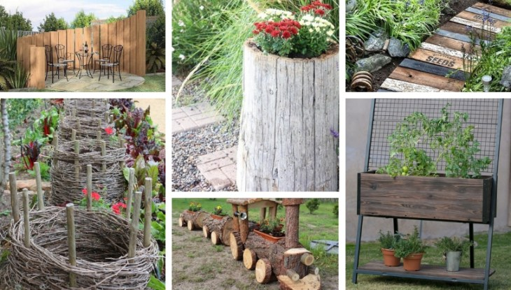 37 Top wood decorating ideas for the yard and garden