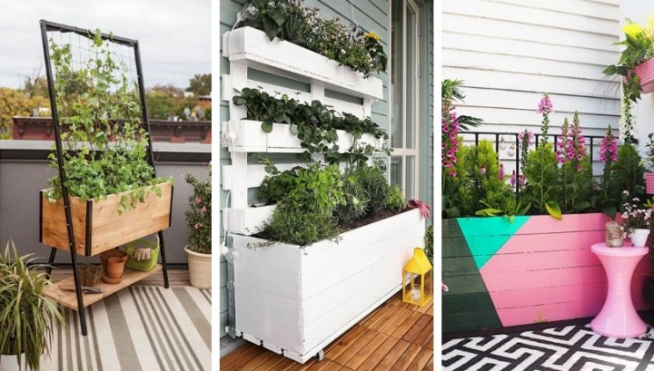 DIY flowerpots for balcony or terrace: how to make the most fashionable and original yourself