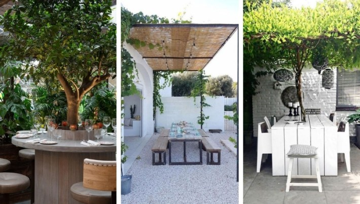 Outdoor dining room: 23 great ideas for the courtyard and the balcony