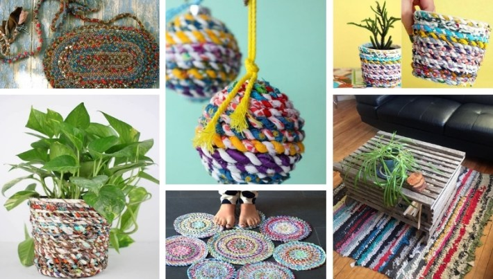 Colorful DIY crafts from rags – old clothes