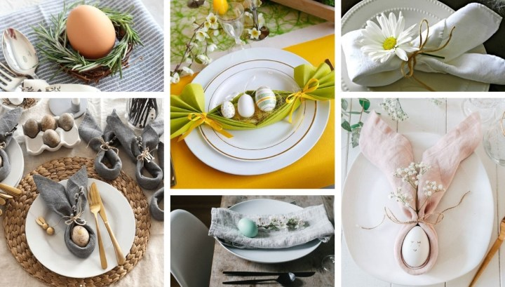 Spring inspiration for a festive table place setting in Easter style