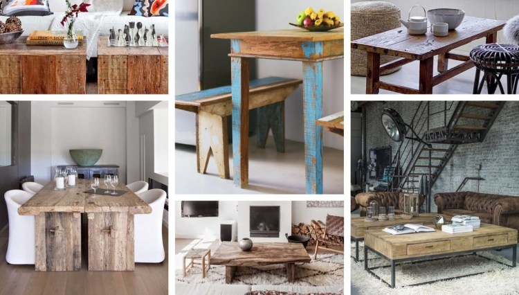 Rustic wooden table ideas: advantages, disadvantages, tips and amazing photos