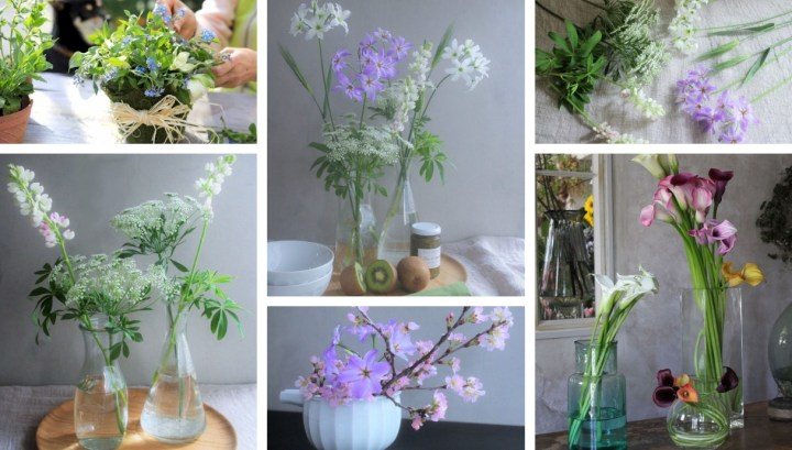 Decorating a table with a spring breeze and beautiful flowers