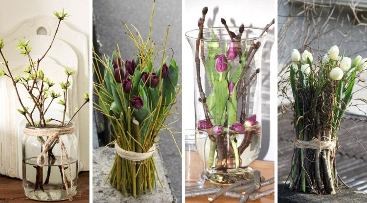 Vases, twigs and flowers – 22 DIY ideas for beautiful and easy spring decorations