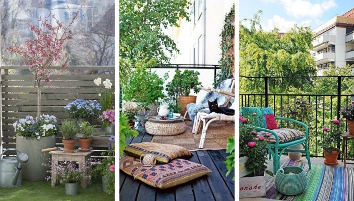 Keys to refresh and enjoy your terrace – balcony in the spring: 25 ideas for inspiration