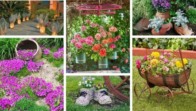 Are you looking for a special DIY garden decoration idea? Find 40 interesting ideas among our photo examples