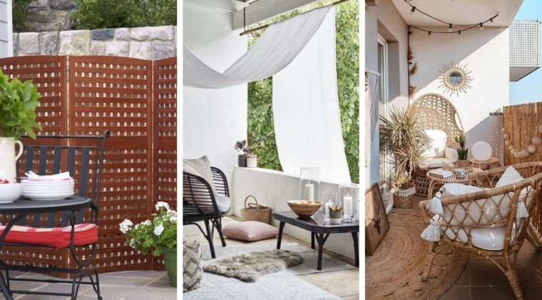 25 Great ideas to hide balcony or terrace and have more privacy