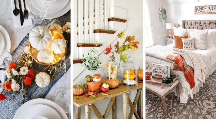Modern Autumn Decoration: Bring the autumn mood into your home with the most elegant ideas