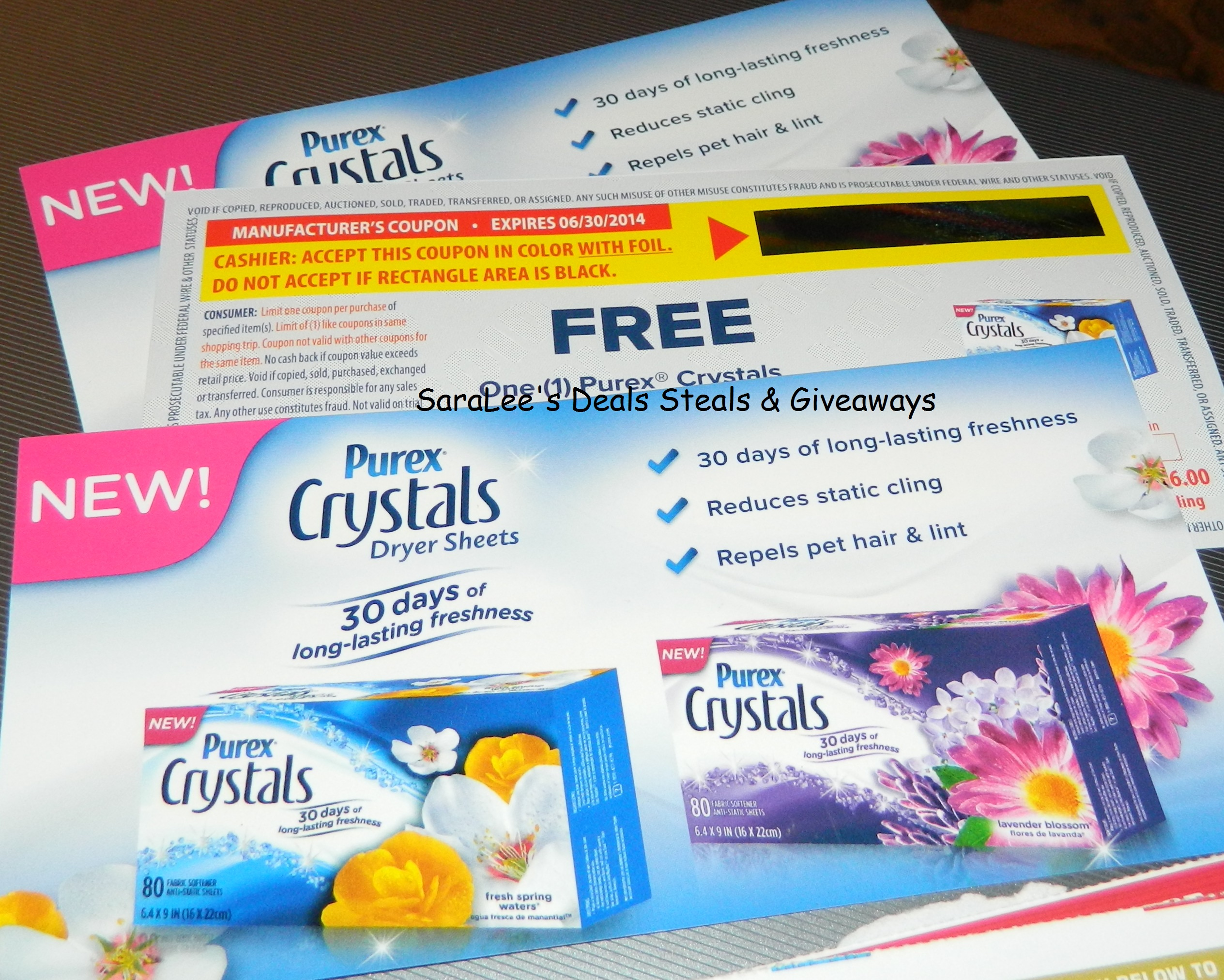 My Devotional Thoughts  Purex Crystals Dryer Sheets