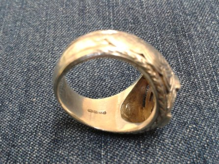 Fora Signet Ring for a Man hallmarks 3