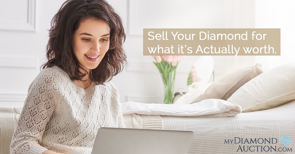 use mydiamondauction.com to learn what your diamond is worth