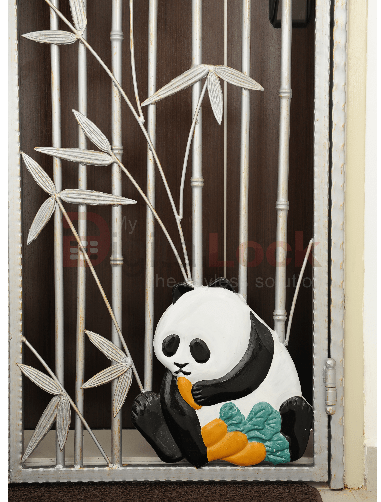 3. Panda Silver Wrought Iron HDB Gate 1.1 copy