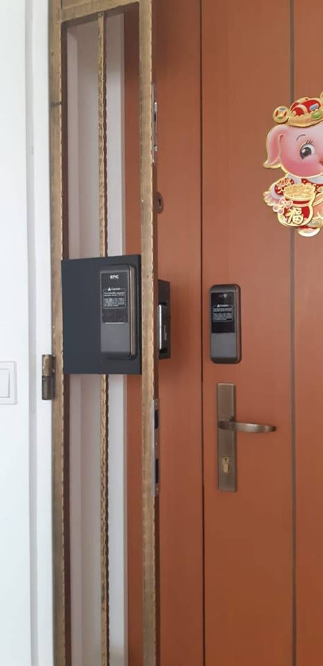 EPIC Gate Digital Lock for BTO HDB Fire Rated Door and HDB Gate at $599 Nett Only with 1 2 years warranty in SIngapore by My Digital Lock