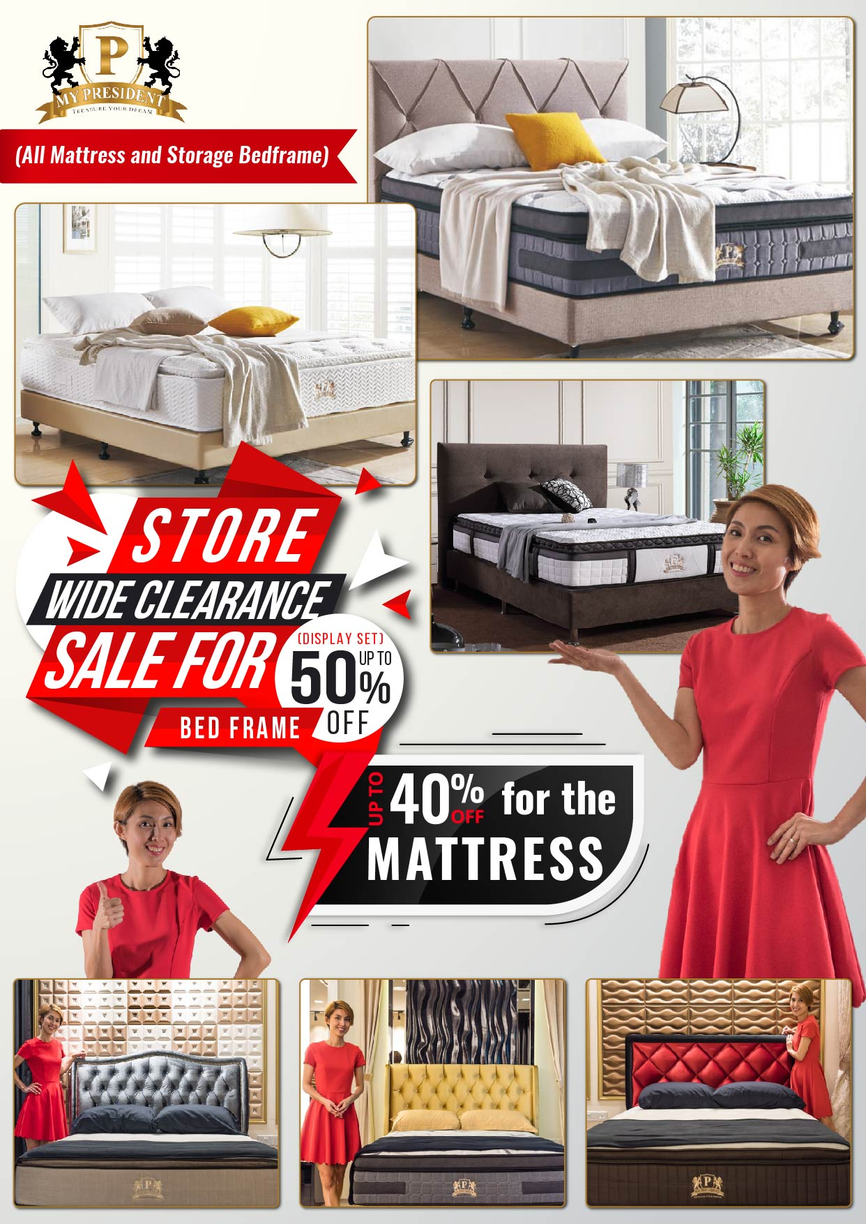 My President Mattress Clearance Sale