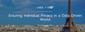 #DATA - Ensuring Individual Privacy in a Data Driven World - By CRITEO @ CRITEO  | Paris | Île-de-France | France