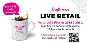 #RETAIL - Live Retail : une nouvelle ère pour le commerce ? - By Les Matinales du Marketing Digital @ J, Angers Connectée Jeunesse | Angers | Pays de la Loire | France
