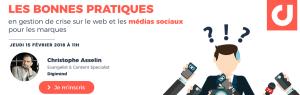 #MARKETING - Les bonnes pratiques en gestion de crise sur le web et les médias sociaux  pour les marques - By Digimind @ WEBINAR  | Paris | Île-de-France | France