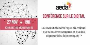 #ENTREPRENARIAT - Les enjeux du digital en Afrique - By AEDA @ ESCE  | Paris | Île-de-France | France