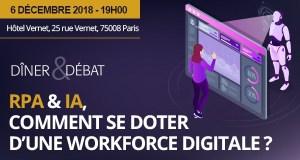 #INNOVATIONS - RPA & IA, comment se doter d'une workplace digitale ? - By IT for Business Le Club - Automation Anywhere @ Restaurant V à l'hôtel Vernet | Paris | Île-de-France | France