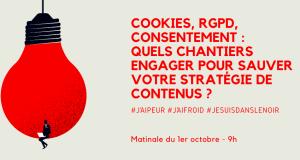 #MARKETING - Cookies, RGPD : quels chantiers engager pour sauver votre stratégie de contenus ? - By ADETEM @ 45 Rue Sedaine 75011 Paris