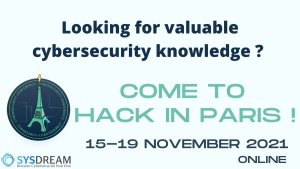 #TECHNOLOGIES - Hack in Paris 2021 - By SYSDREAM
