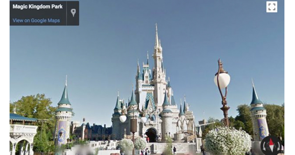 Disney World Google Street View