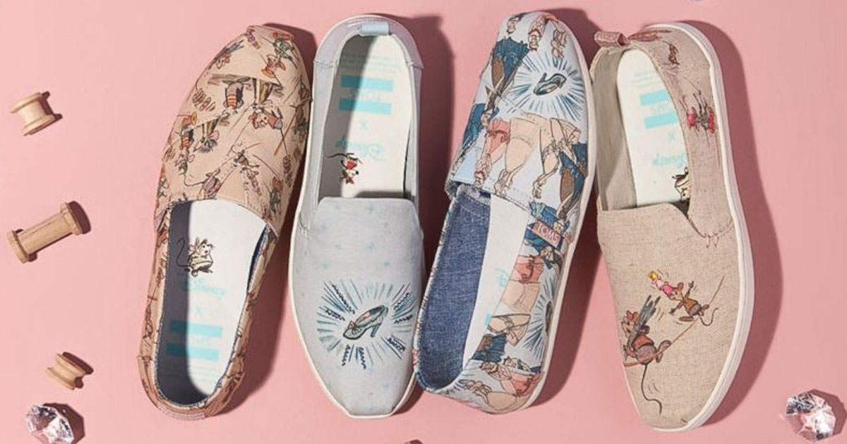0c48591ce73 Disney and TOMS New Princess Collection Has Fans Royally Obsessed ...