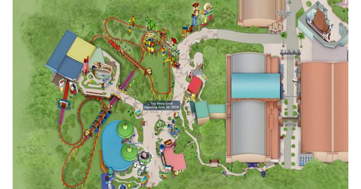 Toy Story Land Digital Maps Officially Added To My Disney Experience on