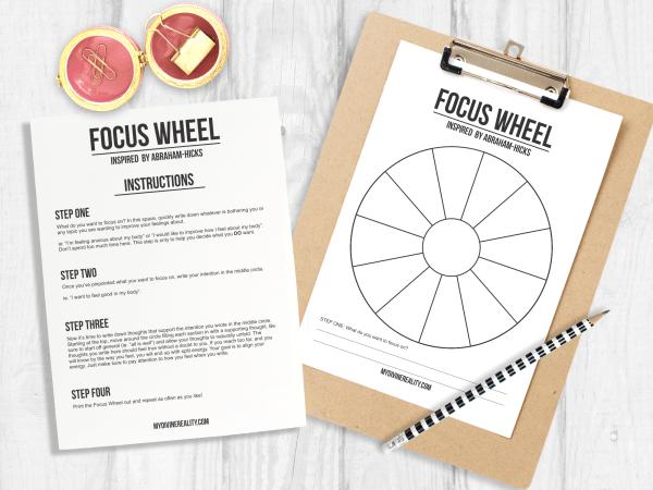 Abraham Hicks Focus Wheel