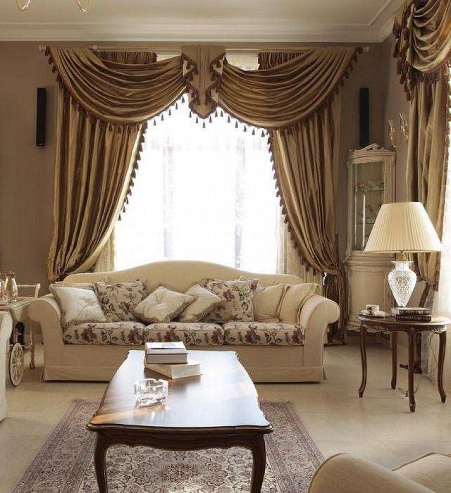 klasik tarz iç tasarım oturma odası