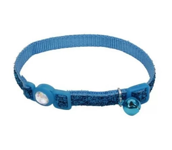 COASTAL Collar Gato Brillante Azul