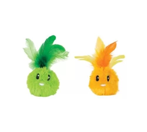 PETSTAGES GATO PELUCHE FEATHER BUNNYS PACK X 2