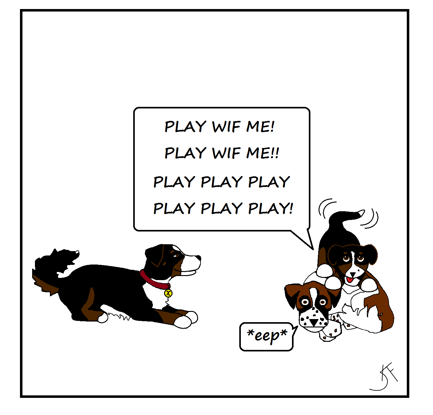 WP images: Cartoon puppy, post 3