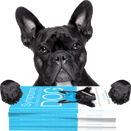 Jana Rade, author of an award-winning dog owner manual, Symptoms to Watch for in Your Dog: How to Tell Your Dog Is Sick and What to Do next. Edited by Dr. Joanna Paul BSc BVSc