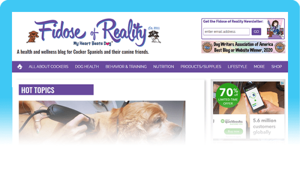 Best Dog Blogs of 2020: Fidose of Reality