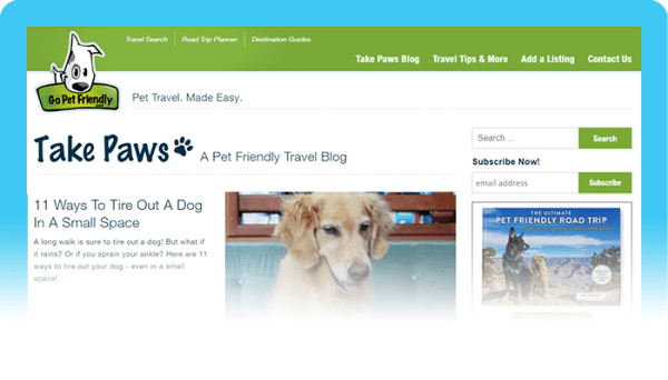 Best Dog Blogs of 2020:  Go Pet Friendly