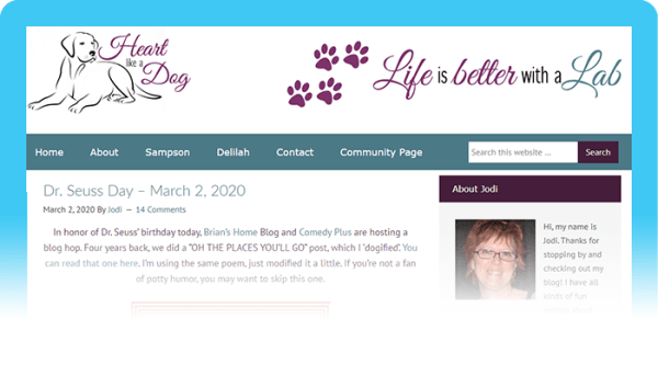 Best Dog Blogs of 2020: Heart Like a Dog