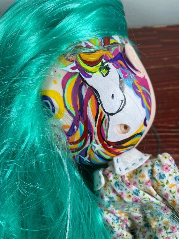 Lisa Frank inspired art