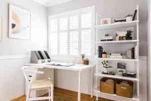 office backgrounds space interior minimalist simple interiors mydomaine approved designer offices living cathie hong desk bring dream