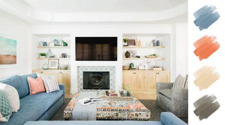 6 No Fail Living Room Color Schemes Designers Use Again