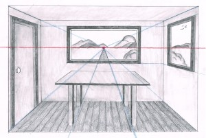 perspective point drawing linear draw lesson easy backgrounds drawings painting google persective mydrawingtutorials vanishing simple tutorials table using 1point line
