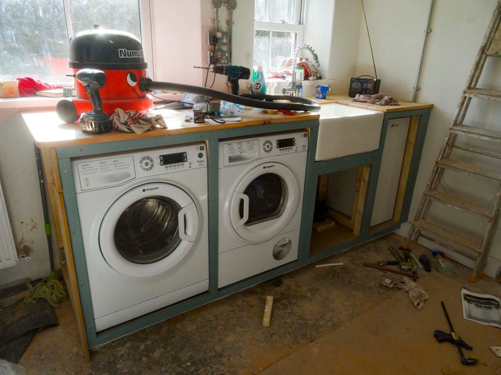 Blue trim fitted to front of unit