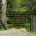 Prayers for the Week – Thanksgiving!
