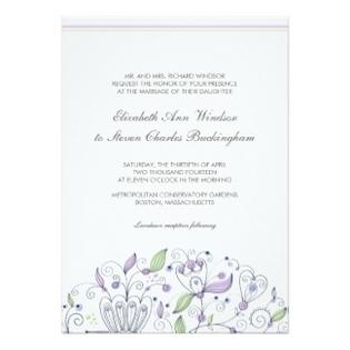 Boho Wedding Invitation Card Flowers