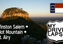 A drive up Pilot Mountain! Winston Salem to Mount Airy, North Carolina Dashcam
