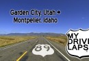 Utah into Idaho on US Highway 89: Garden City, Paris, Montpelier Dashcam