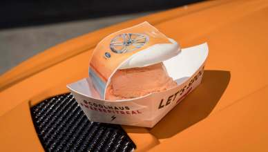 Ford Creates Mustang-inspired Orange Fury Ice Cream Sandwich From Coolhaus
