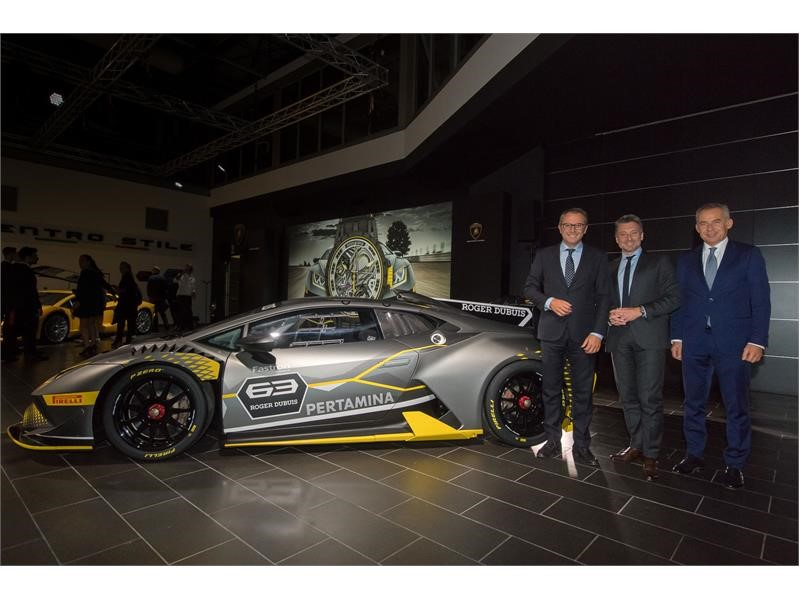 World premiere of the Huracán Super Trofeo EVO. Starting the partnership with Roger Dubuis