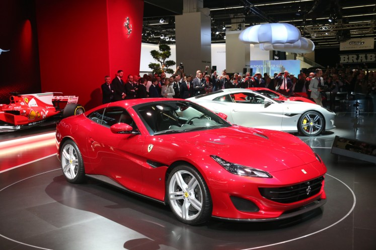 The new Ferrari Portofino - the Italian GT par excellence on the stand at Frankfurt