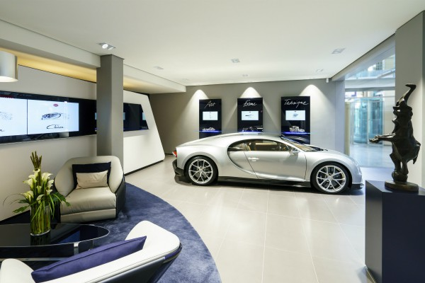 Bugatti opens Hamburg showroom with new design